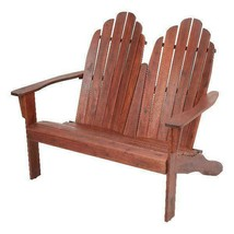 Mainstays Wood Outdoor Two Seat Adirondack Bench - $148.99+