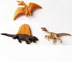 Doll House Shoppe 3 Different Toy Dinosaur Figs Micro-mini Game Pcs Miniature #2 - $3.93
