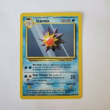 Pokemon Base Set 1999 Starmie Card LP 64/102 TCG Trading Card Game Unlimited - $1.19