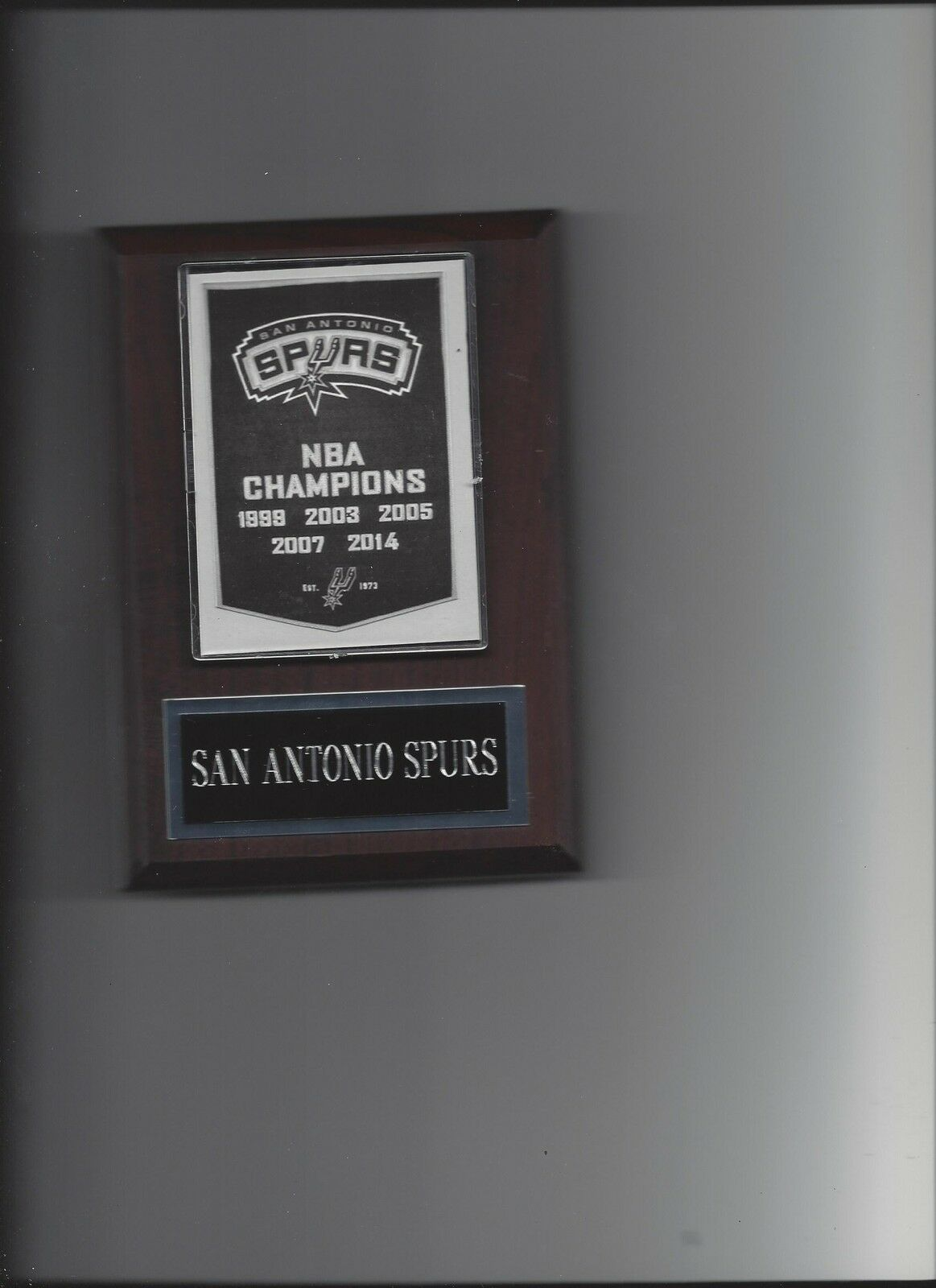 SAN ANTONIO SPURS BANNER PLAQUE NBA CHAMPIONS CHAMPS BASKETBALL NBA NY - $3.95