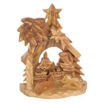 """Christmas nativity scene natural olive wood Handmade in Bethlehem 4""""/10cm - $16.03"""