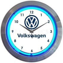 "Volkswagen Car Garage Neon Clock 15""x15"" - $69.00"