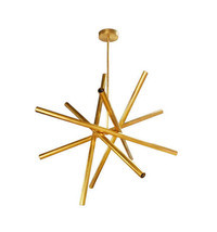 Brass midcentury Sputnik chandelier - 12 lights - Lighting Lamp Design - £528.84 GBP