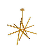 Brass midcentury Sputnik chandelier - 12 lights - Lighting Lamp Design - £529.48 GBP