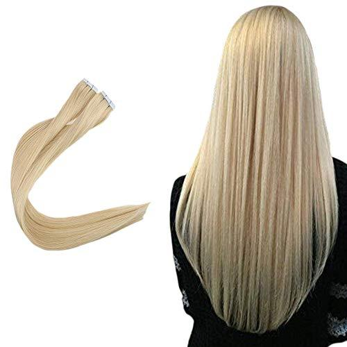 Easyouth Skin Weft Tape Remy Hair Invisible 16inch Colored 22 Natural Brazilian