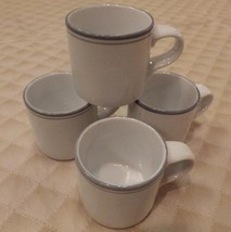 4 DANSK Concerto Gray Demitasse Cups - $31.68
