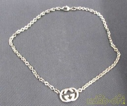 Gucci Gg Logo Plate Necklace 190489 J8400 8106 F/S From JP - $392.65