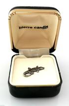 Vintage 1970s PIERRE CARDIN Silvertone ALLIGATOR LIZARD Design TIE TAC i... - $45.58