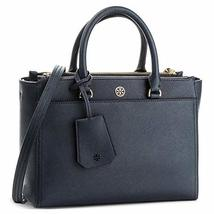 Tory Burch Women's Small Robinson Double-Zip Leather Top-Handle Bag (Navy) - $378.00
