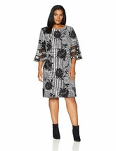 Sandra Darren Women'S 1 Pc 3/4 Bell Sleeve Printed Scuba Crepe Sheath Dress - $31.78+
