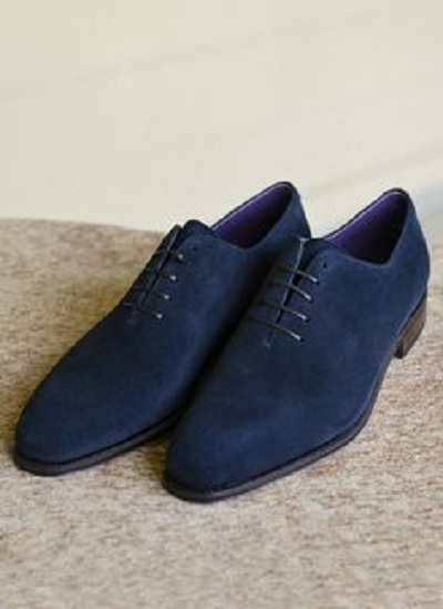 Handmade Men navy blue suede shoes, Men formal shoes, men dress shoes, Men shoes