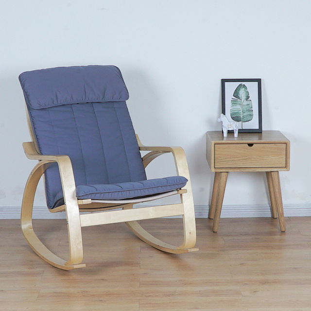 Comfortable Modern Furniture: Comfortable Relax Wood Adult Rocking Chair Armchair Living