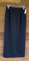 Talbots Long Black Skirt Below Knee Career Womens Size 4 Nwt/ pmt - $20.56