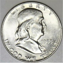 1953 Franklin Half Dollar; Choice BU   - $45.53