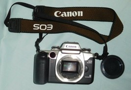 Camera Canon Eos Elan Ii E 35mm Slr UNTESTED-PARTS/REPAIR + Strap/Cap - $38.99