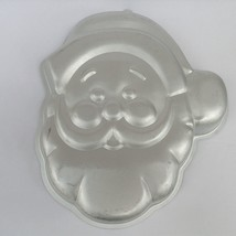 Wilton Cake Pan Mold 2105 1225 Jolly Santa Claus Face 1987 Aluminum Chri... - ₨795.96 INR