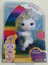 Fingerlings Unicorn MACKENZIE Lite Up & Glitter Body BONUS Blind Bag Fin... - $18.79