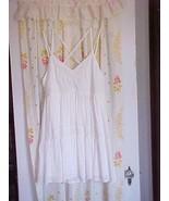 NWT American Eagle White Eyelet Summer Sundress Mini Dress Swim Cover L ... - $50.46