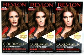 3 Boxes Revlon Luxurious Colorsilk Buttercream 731 Dark Beige Blonde Hai... - $26.99