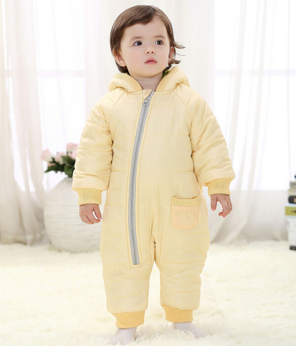 Baby Kid Toddler Boys Girls Winter Padded Onesie Romper Jumpsuit Outfit Snowsuit image 5