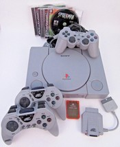 PlayStation 1 PS1 Original Console Bundle Wireless Controller Set Power ... - $51.41