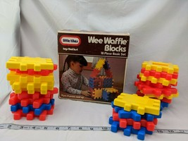 Little Tikes Wee Waffle Blocks Lot of 22 1984  - $24.95