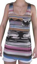 Bench Mujer Orian Nativo Camiseta Estampada Bolsillo Tanque Top BLGA2600 Nwt image 3