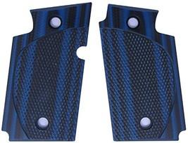 LOK Grips Checkered CC Sig P938 Grips Blue/Black - $46.85
