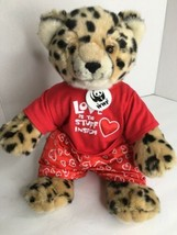 """Build a Bear 16"""" WWF World Wildlife Fund 2007 CheetahLeopard With Outfit - $29.69"""