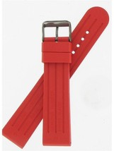 Swiss Army Brand 22mm Red Rubber Dive Master 500 Large Watch Band 003882 - $125.00