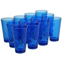 Certified International Cobalt Blue 20 oz Acrylic Ice Tea Drinkware Set ... - $78.90
