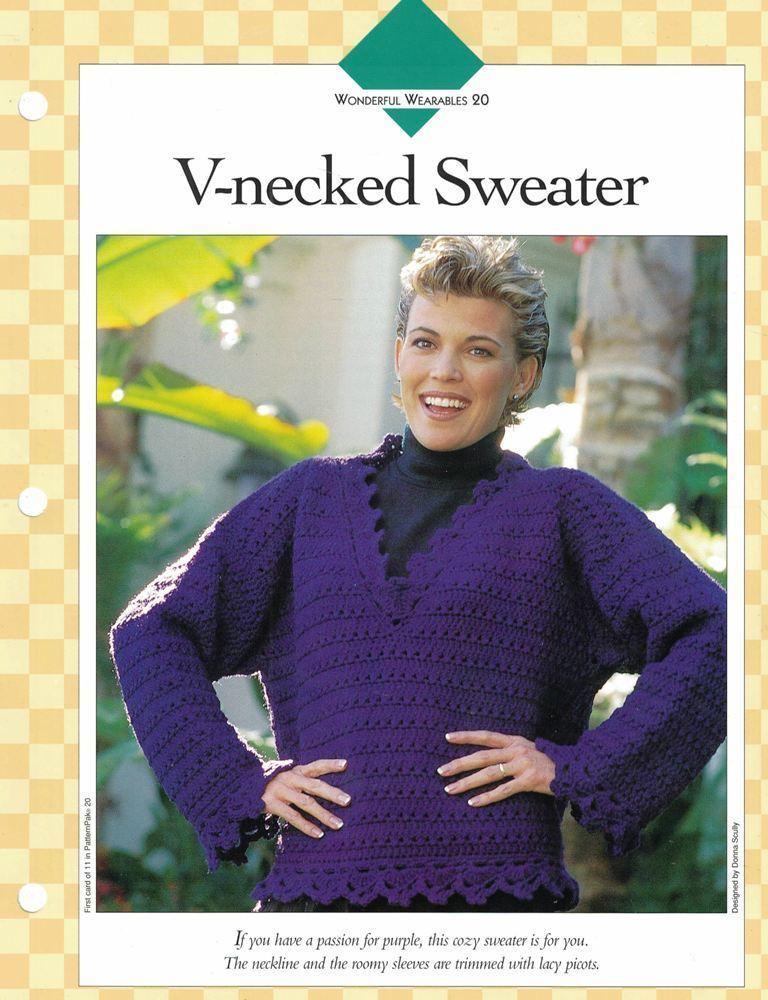 Ladies V Neck Sweater Single Pattern Vanna And Similar Items
