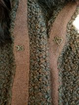 Ann Taylor Loft Womens Sweater Vest Alpaca/Mohair w/ Faux Fur Collar Brown Sz M image 7