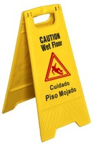 Star Foodservice 54613 Safety Caution Wet Floor Sign English/Spanish 25-... - $15.46