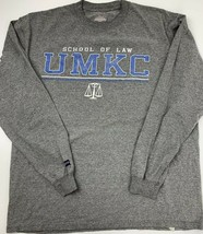 School of Law UMKC Grey Long Sleeve T-Shirt Men's Size XL - $14.84