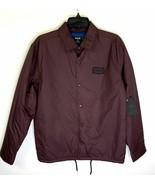 Hurley Burgundy Red Snap Up Jacket Oakland Shacket Water Resistant Mens ... - $27.23