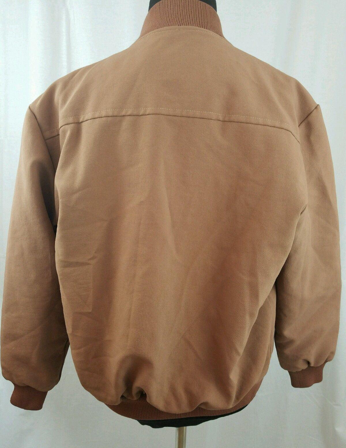 Big Ben Jacket Waterproof Brown Faux Fur Lining Pockets  Size Med