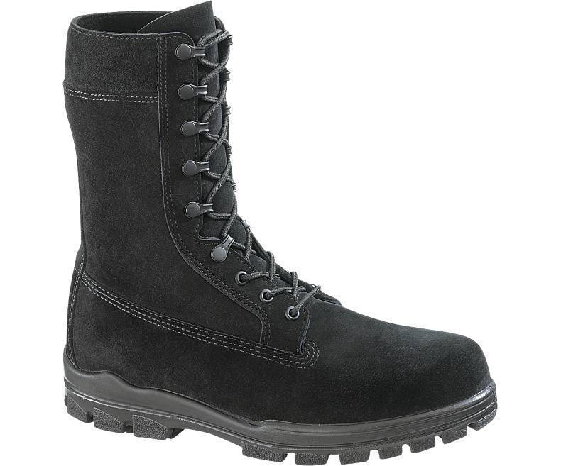 "Primary image for Bates E0421 Men's1421 9"" US Navy Suede DuraShocks Steel Toe Black Boot 8 EW"