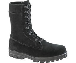 "Bates E0421 Men's1421 9"" US Navy Suede DuraShocks Steel Toe Black Boot 8 EW - $167.31"