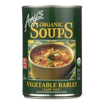 Amy's - Organic Low Fat Vegetable Barley Soup - Case Of 12 - 14.1 Oz - $60.96