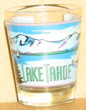 Lake Tahoe Nevada shot glass new vintage collectible sailing gulls mount... - $5.99