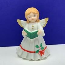 Angel figurine vintage porcelain sculpture Christmas Lefton caroler song... - $19.60