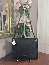 New Coach Madison Hippie Convertible Crossbody Bag Canvas Leather 51090 ... - $116.09