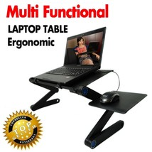 Portable Foldable Laptop Stand Notebook Desk Table Tray Adjustable Mount... - $59.39