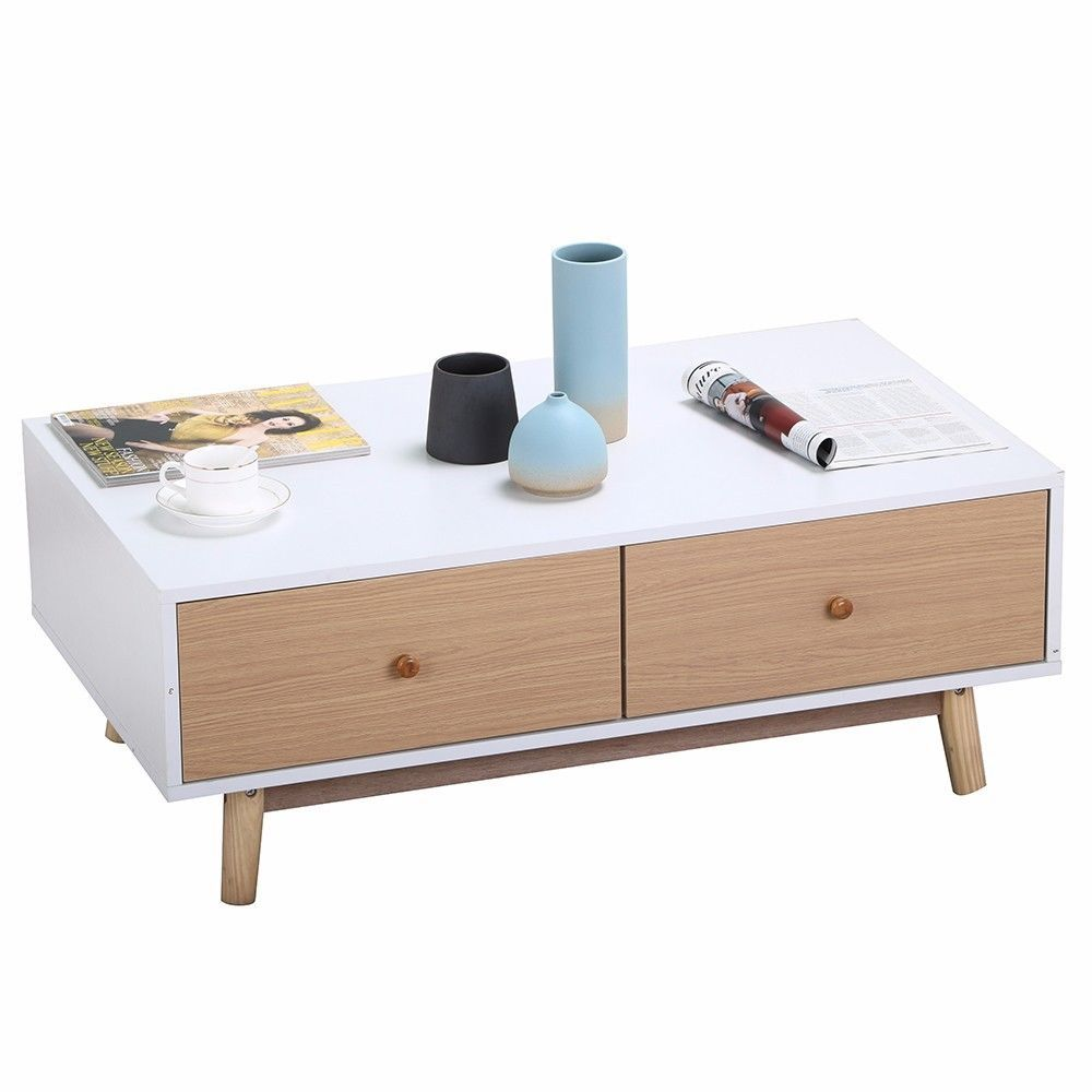 Contemporary modern rectangular wood coffee and 50 similar for Coffee tables under 50