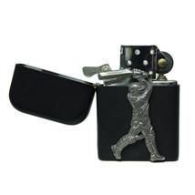 Cricket matte black stormproof petrol lighter - $24.99