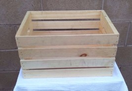 WOODLINE  WORKS  WOODEN  CRATE  / NEW - $14.95