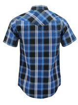 Men's Western Short Sleeve Button Down Casual Plaid Pearl Snap Cowboy Shirt image 10