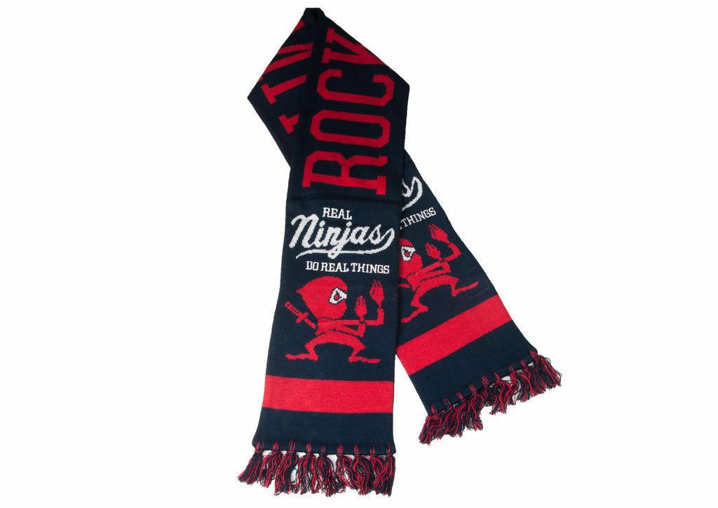Rocksmith New York Marineblau oder Schwarz Echt Ninjas Winter Fußball Stil Schal