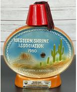 Jim Beam 1980 Western Shrine Association Decanter AZ With Hat Lid RARE V... - $31.31